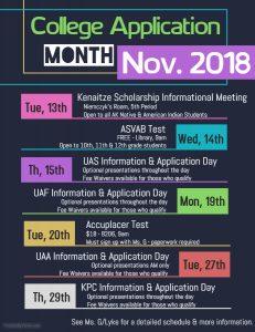Senior 2019 Upcoming Events Calendar