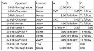 MS VB Schedule